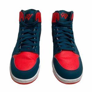 Nike Kids Air Jordan 1 Retro Youth 5.5 Teal/Red